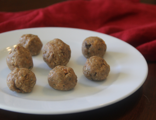 no-bake protein & oat energy balls