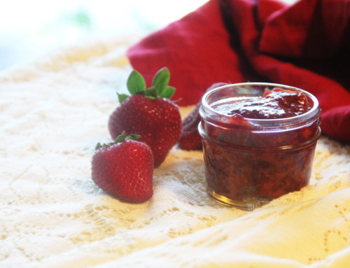super simple strawberry compote